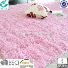 rosa weiche zottige Maschine waschbare Teppichfabrik direkter Teppich roter Teppich schäumte Teppich