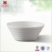 Billig einfacher weißer Keramik-Senf oder Sojabohnen-Teller