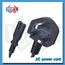 Câble d'alimentation pour projecteur AC BS 3 broches en usine avec prise UK