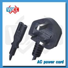 Фабричный оптовый кабель питания переменного тока BS 3 pin с разъемом UK