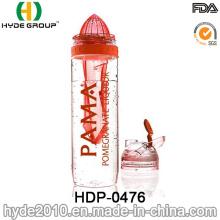 Botella de agua nuevamente plástica de la infusión de la fruta 950ml, botella de agua de Tritan libre de BPA (HDP-0476)