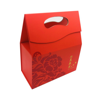 paper gift folding handle packaging box