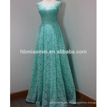 Langes wulstiges erwachsenes Kleid des neuen Entwurfs kuppeln Schulterasche moslemisches Hochzeitskleid 2015