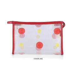 Lady Fashion Dots Printed Clear PVC Cosmetic Wash Bag (YKY7533-7)