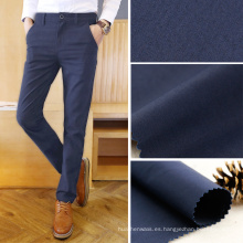 104gsm 50 * 50 / 152x80 algodón Poplin tela de los pantalones de la tela de los pantalones de los hombres azul marino
