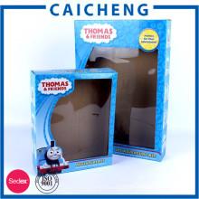 Personnalisé E flûte ondulé boîte d'emballage de jouets souples