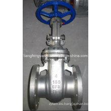 Válvula de compuerta CF8 con extremo con brida, RF