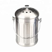 Compost Bin Composteur de cuisine en acier inoxydable de 1,0 gallon