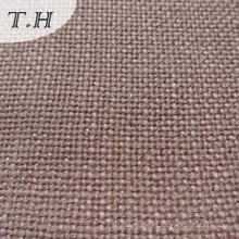 Tejido de lino en tela 100% poliéster