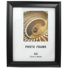 Black A4 Plastic Photo Frame Can Stand On Table Or Wall