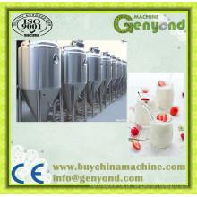 Fábrica de produção de iogurte