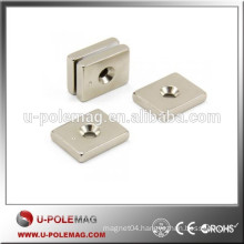 F25 x 20 x 5mm N42 Neodymium Magnet with 4.5mm countersunk