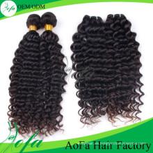 Extensión del cabello humano 100% sin procesar, Peluca de cabello humano Remy Virgin