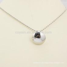 Fábrica de hacer barato plata en blanco Collar colgante botón de metal