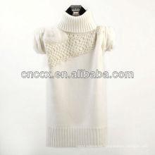 12STC0600 jersey de punto de cuello alto de mujer tejida