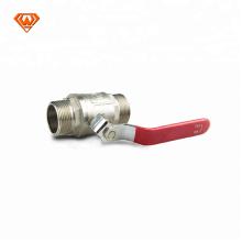 латунный мыжской резьбы газовый клапан герметичный шар