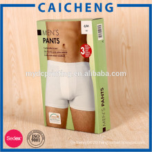 Full color printed paper box packaging for men's briefs underwear
