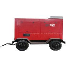 Generador diesel impermeable del remolque móvil insonoro