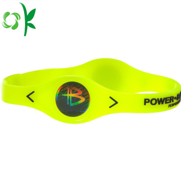 In reliëf gemaakte Logo Power Bracelet Bands met Energy Tag