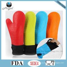 Термостойкие перчатки более толстые и длинные силиконовые перчатки FDA утвержден Sg09