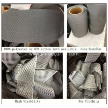 100%Polyester Reflective Mesh Fabric For Garment