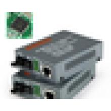 10 / 100M 1310 / 1550nm Single Mode Single Fiber WDM 25km Convertisseur de fibre optique à RJ45