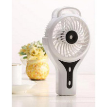 Portable Charging atomizing USB mini fan with 3 level wind speeding-White