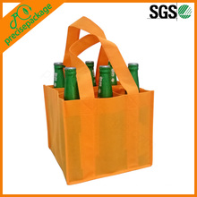 cheap customized nonwoven wine bottle bag with handle extensive to the bottom