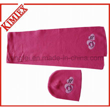 100% Acrylic Cheap Promotional Embroidery Knitted Set
