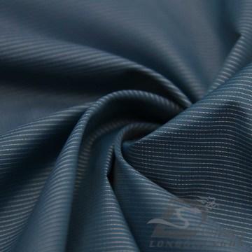 Water & Wind-Resistant Down Jacket Tejido Dobby Striped Jacquard 13% Polyester + 87% Nylon Blend-Tejido Intertexture Tela