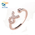 Cheap Wholesale New Design Delicate 925 Sterling Silver CZ Finger Ring