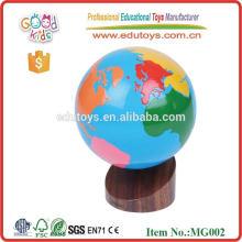 Montessori juguetes geografía madera globo juguetes
