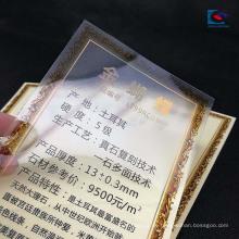 Matt polierte transparente PVC-Marmorpreisaufkleber-Granitaufkleber