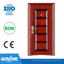 Puerta de hierro de diseño de seguridad para casas