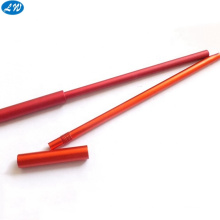 cnc turning with thin wall oval aluminum tube and pen spare parts