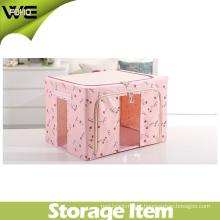 Pink Fabric Beautiful Useful Pretty Collapsible Storage Box