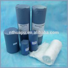 Rolo de algodão de alta absorvente médica enrolado com papel ofício