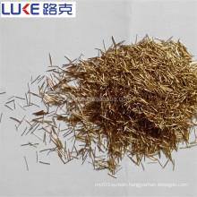 Copper coated micro steel fiber for concrete UHPC
