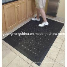 Schwarze Anti-Rutsch-Gummi-Garage-Boden-Matte, Entwässerungs-Gummimatten-Anti-abschleifende Gummimatte