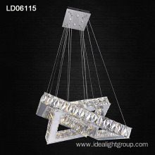 modern steel crystal lighting fixture decoration wedding