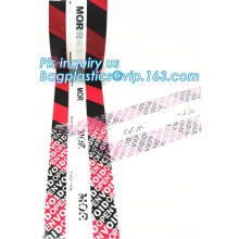 security void open tape, anti tamper tape,adhesive warranty void tape, Carton Box Security Void Tape
