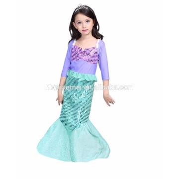 2017 instyles baby girl's Mermaid fairytale princess dress fashion cospaly costume birthday dresses girl princess dress