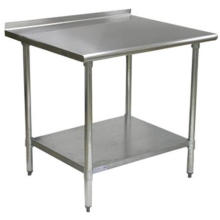 """Stainless Steel Work Table (2"""" Trun Up)"""