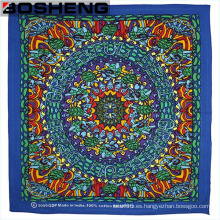 Moda de los patrones mixtos y los colores de la bufanda de cabeza cuadrada