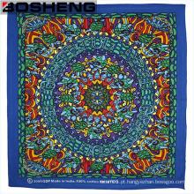 Moda mista padrões e cores quadrados cabeça cachecol
