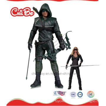 Green Arrow Man Plastic Doll