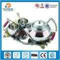 Jogo do potenciômetro do chá do aço inoxidável da prata 8pcs