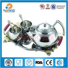 Ensemble de pot de thé en acier inoxydable 8pcs