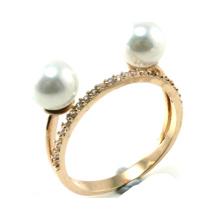 Más nuevo diseño de joyería de moda 925 anillo de perlas de plata (r10384)