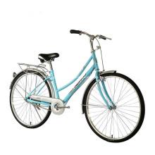 Bicicleta de ciudad de una sola velocidad para damas